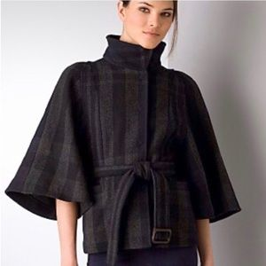 Theory Nivalis Plaid Belted Coat